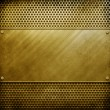 Metal template background (golden pack) — Stock Photo