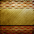 Metal template background (golden pack) — Stock Photo #2738332