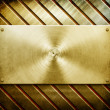 Metal template background (golden pack) — Stock Photo #2738467