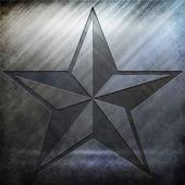 Silver Metal Star Texture — Photo