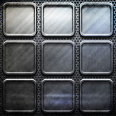 Metal template background — Photo