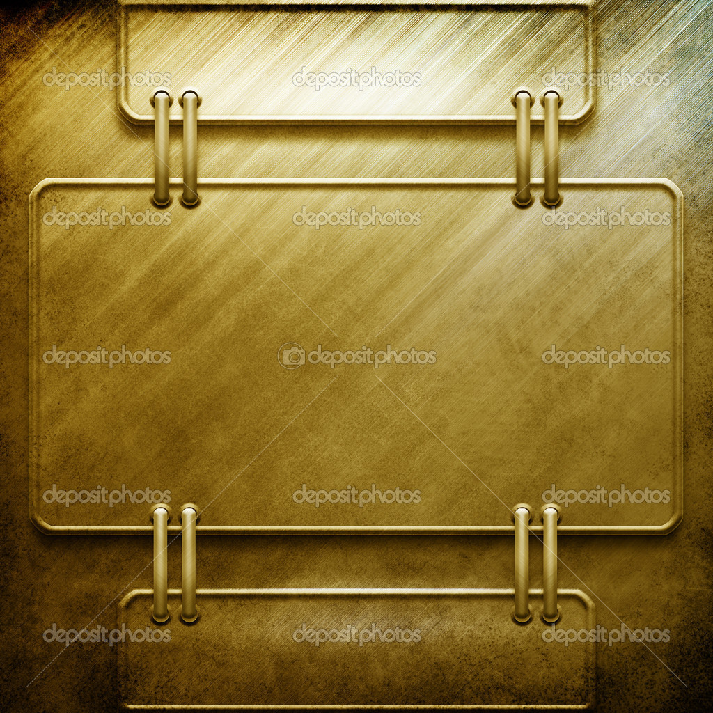 Metal template with empty space for text or image — Stock Photo #2738398