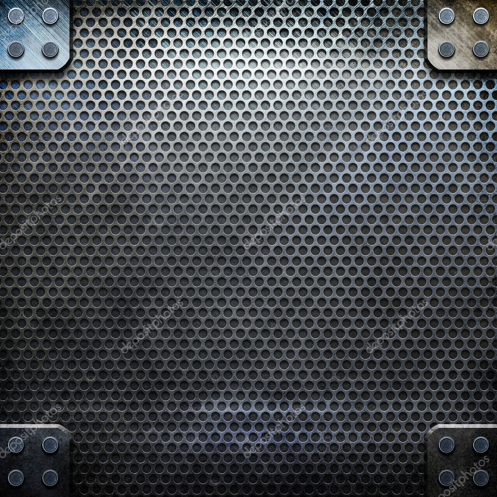 Metal template with empty space for text or image — Stock Photo #2738671