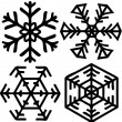 Stock Vector: Snow flake