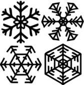 雪のフレーク — ストックベクタ
