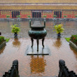 Stock Photo: Tripod urn in imperial city of Hue