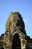 One tower of the Bayon temple — Stock Photo