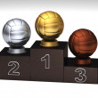 Volleyball podium - Stock Photo