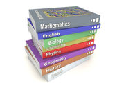 English school books stack — Stock Photo