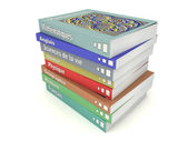 French school books stack — Stock Photo