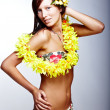 Beautiful girl - Hawaiian style — Stock Photo #2917190