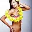 Beautiful girl - Hawaiian style — Stock Photo #2917190