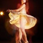 Beautiful young female dancing — Stock Photo #3010353