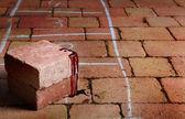 Blood covered bricks — Stock Photo