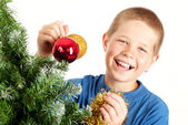 Noël et le jeune garçon — Photo