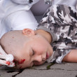 Stock Photo: Boy in coma