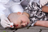 Boy in coma — Stock Photo