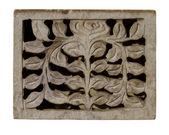 切り分けられた装飾的な淡い石材パネル — ストック写真