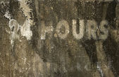 24 hours grunge background — Stock Photo
