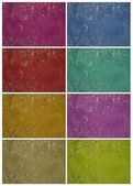 Colorful holey grunge wall set — Stock Photo