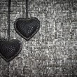 Stock Photo: Two black hearts