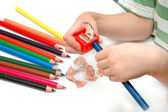 Sharpen the pencils — Stock Photo
