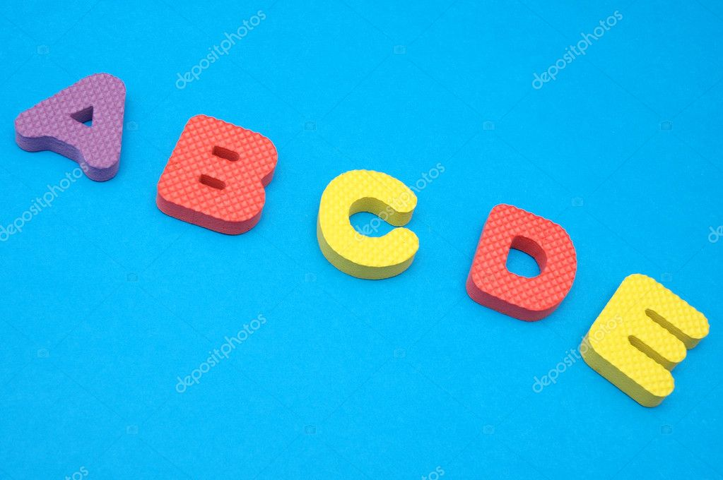 Letters from A -alphabetic order — Stock Photo #3039763