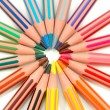 Stock Photo: Pencil rainbow