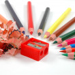Sharpened coloured pencils — Stock Photo