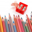 Pencils and sharpener — Stock Photo #3040910