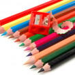 Stock Photo: Sharpener and pencils