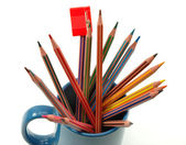 Pencils in mug — Stock Photo