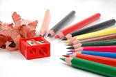 Lápis de cores afiadas — Foto Stock