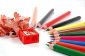 Vässade pennornabroušené tužky — Stock fotografie