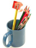 Pencils in mug — Stock Photo