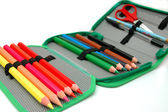 Instruments in the pencil box — Stock Photo
