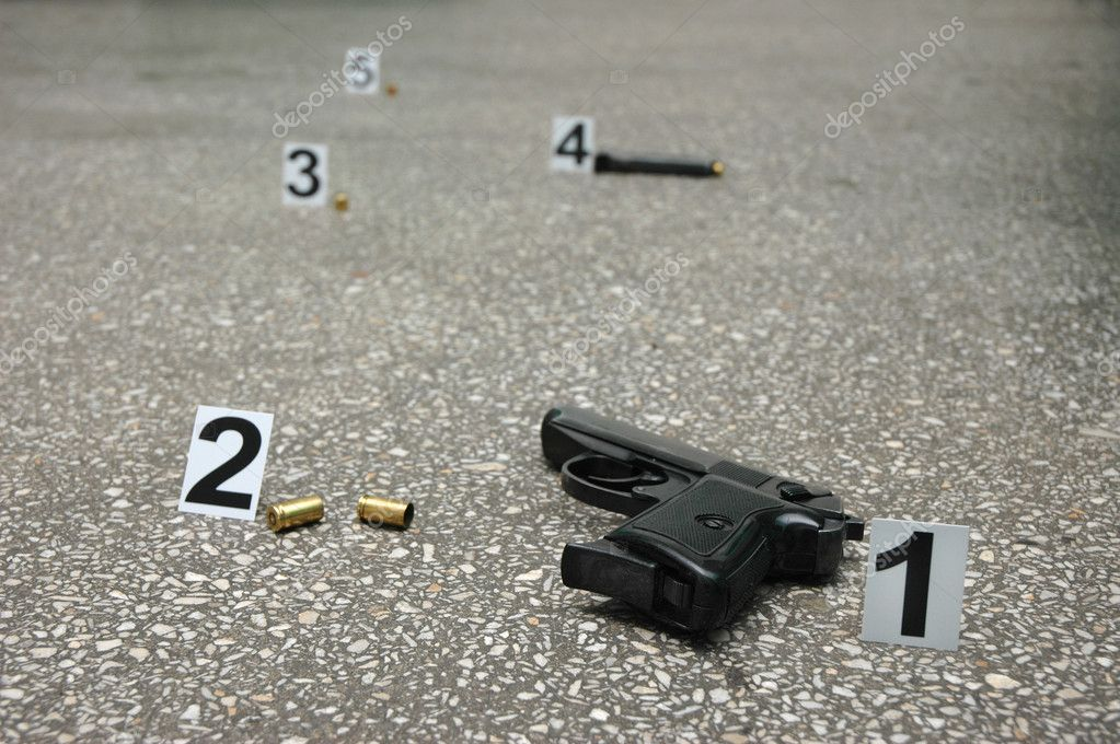Forensic Science -place of shooting — Stock Photo #3471640