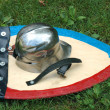 Stock Photo: Helmet and shield