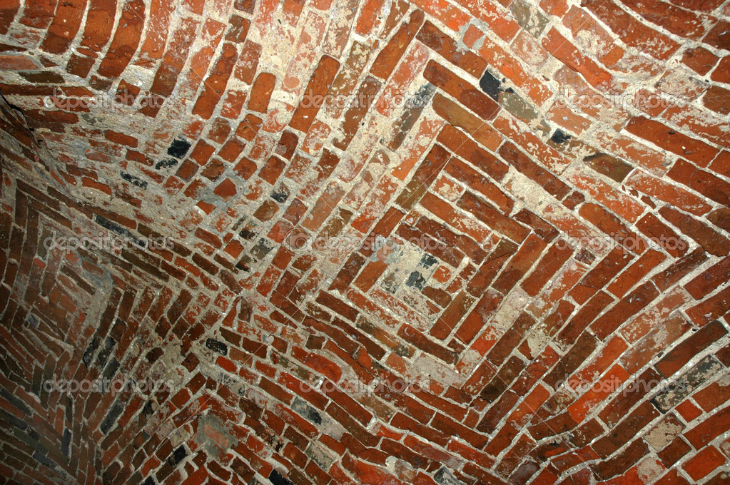 Red brick background - old ceiling — Stock Photo #3787729