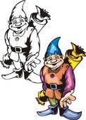 Christmas gnomes. — Stock Vector