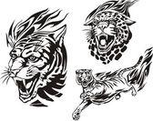 火红的大猫. — 图库矢量图片