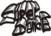 Super Dance.Dancing. — Stock Vector