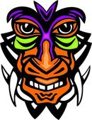 Ancient mask. — Stock Vector