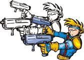 Anime-kämpfer. — Stockvektor