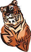 Grandes felinos. — Vetorial Stock