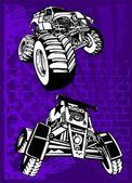 Buggy and Bike. — Stock Vector