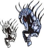 Cyber Horses. — Stock Vector