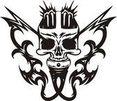 Cyber Skull. — Stock Vector