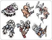 Cyborgs. — Stock Vector