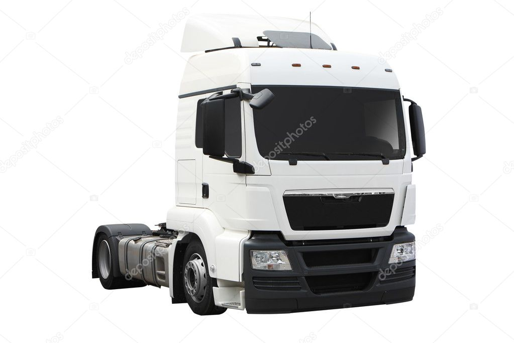 White isolated big European truck — Stock Photo #3239517